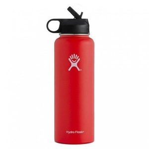Red HydroFlask with Straw Lid